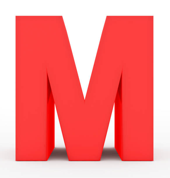 b7e524376bdc76 Top 60 3d Red Letter M Stock Photos, Pictures, and Images - iStock
