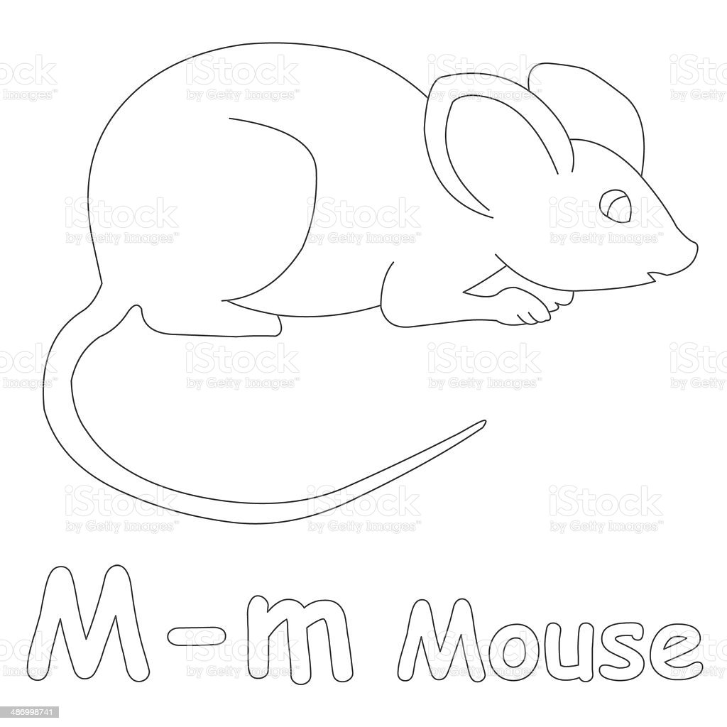 Mouse Coloring Pages Preschool. Coloring  England Preschool Building School Alphabet Letter M for Mouse Page For Stock Photo More Pictures of