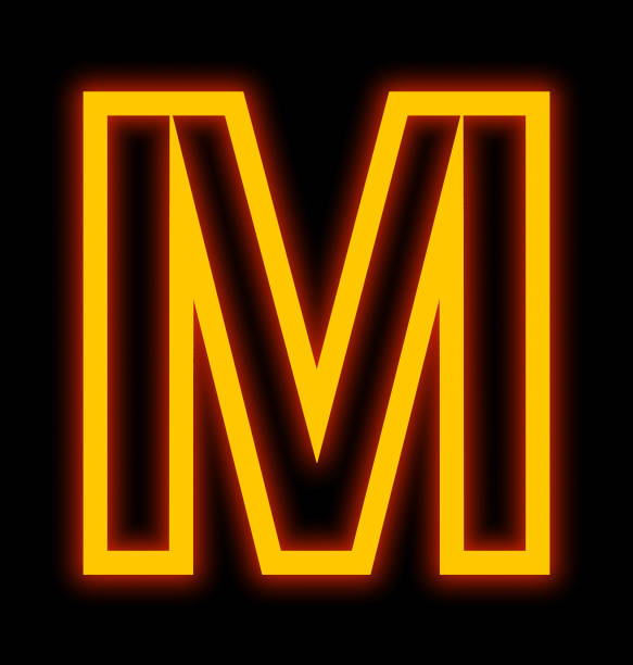 5563668d81d1eb Top 60 Neon Sign Letter M Stock Photos, Pictures, and Images - iStock