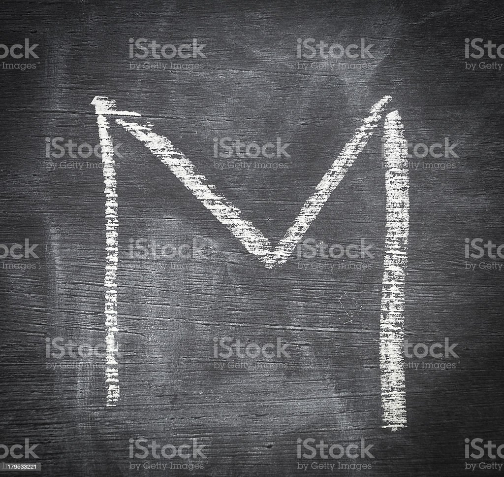 Letter M. royalty-free stock photo