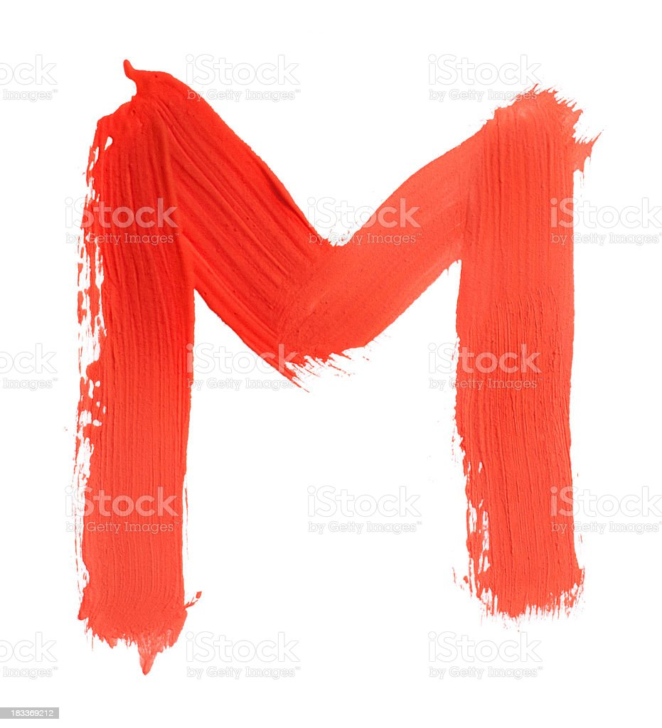 Letter M stock photo