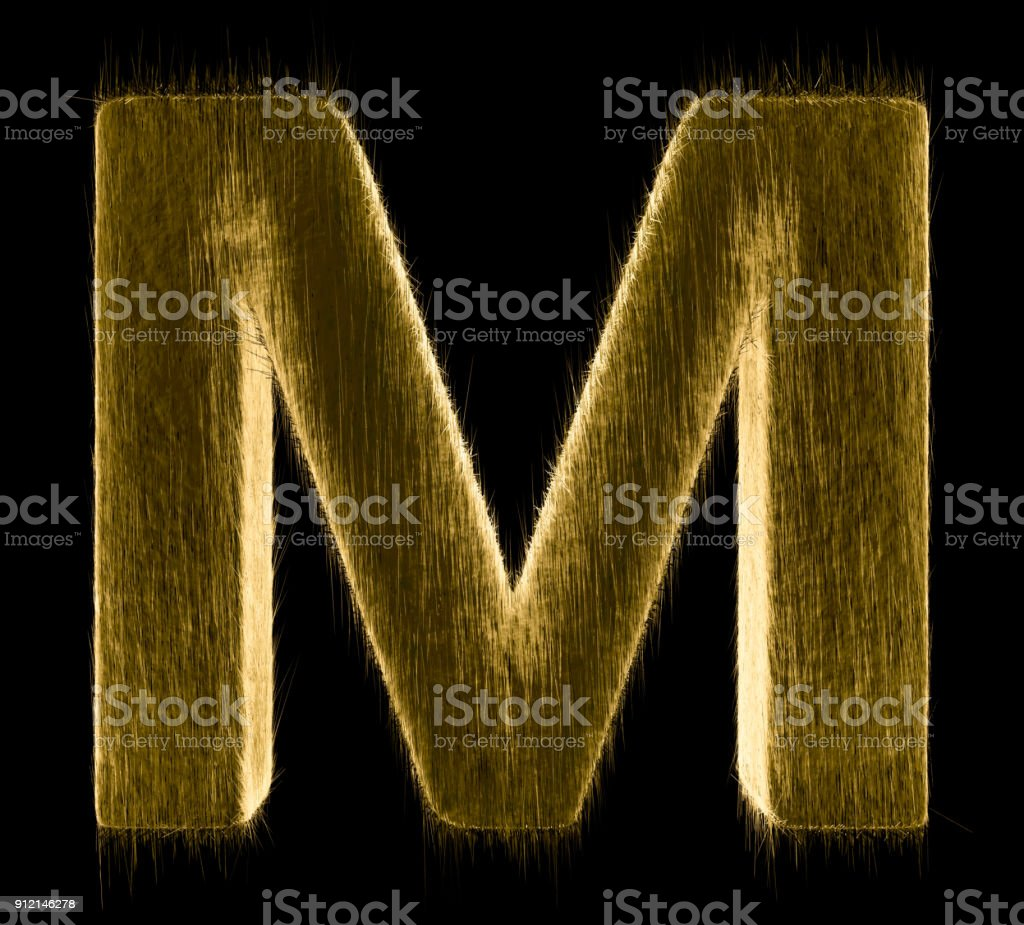 Letter M stock photo