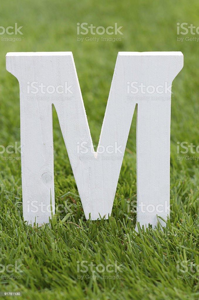 Lettera M - foto stock