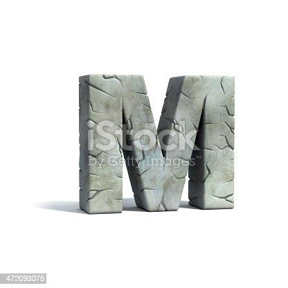 istock letter M stone 3d font 472093075