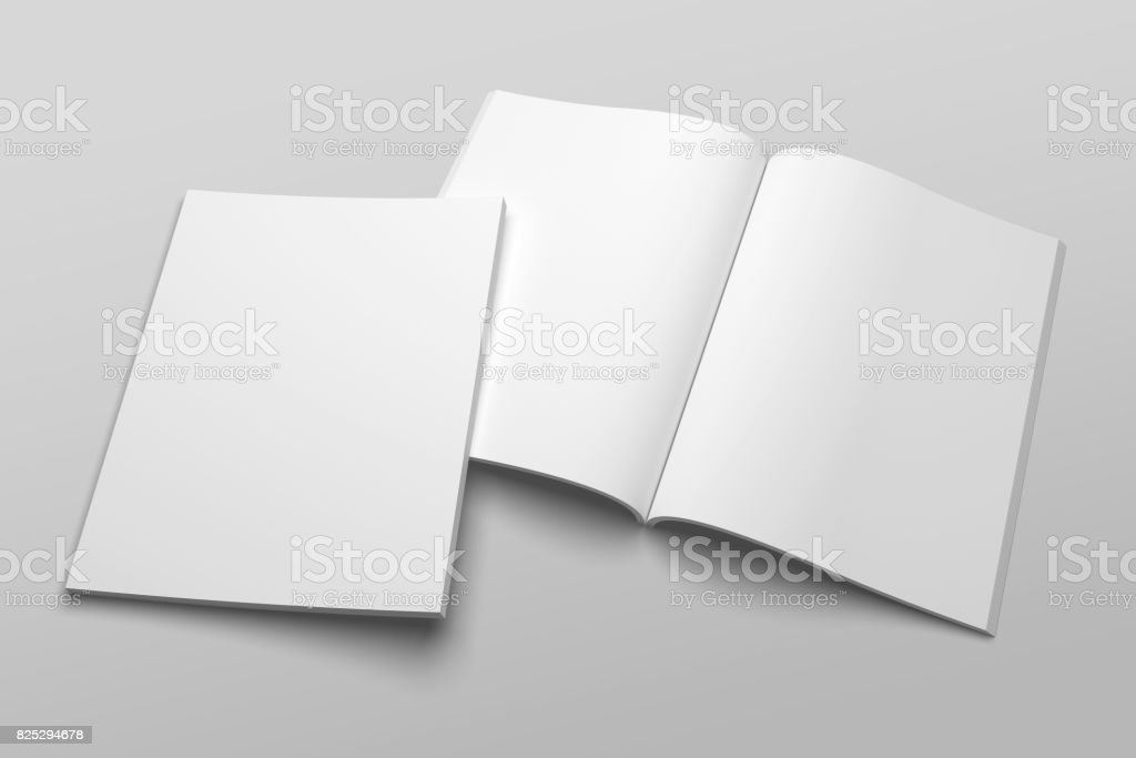 US Letter magazine or brochure 3D illustration mockup No. 1 stock photo