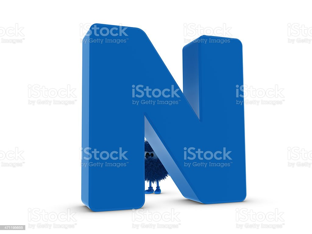 Letter N and Sphefur royalty-free stock photo