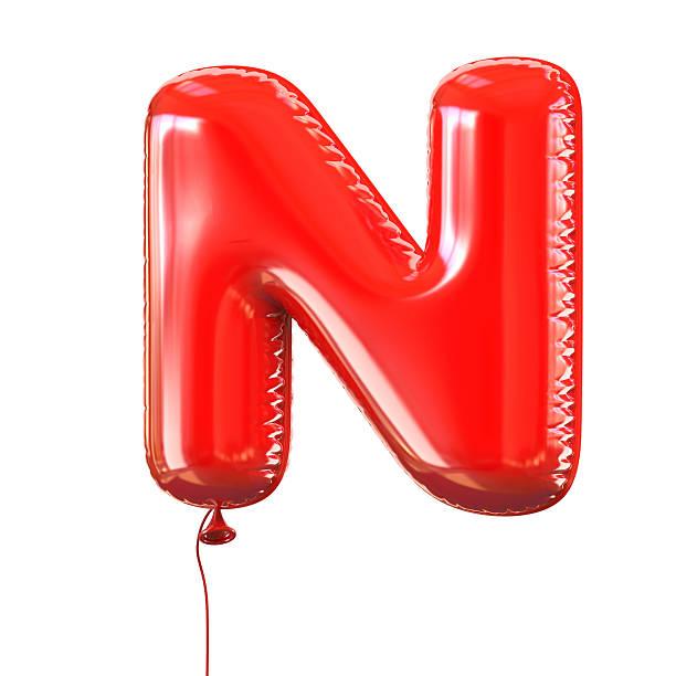 Buchstabe N balloon Schriftart – Foto