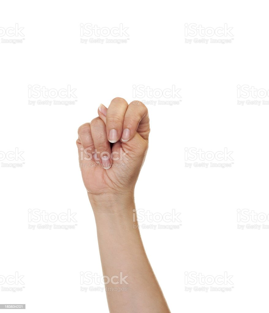 Letter N in American Sign Language royalty-free stock photo