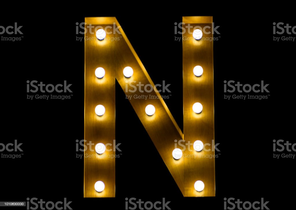 Letter N stock photo