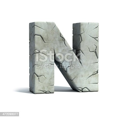 istock letter N stone 3d font 472093077
