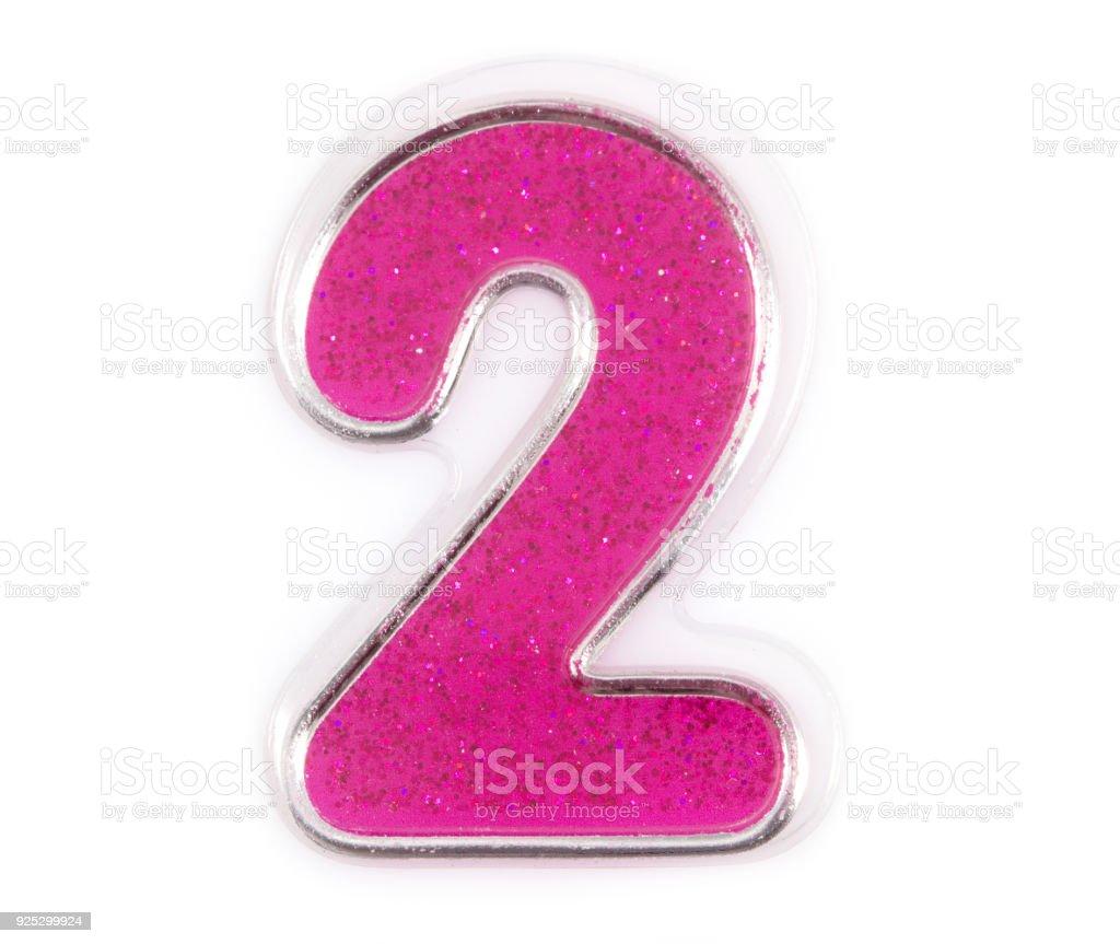 Letter Number 2 Symbol Pink Color On A White Background Pink Number ...