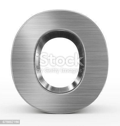 istock letter O 3d metal isolated on white 675662186