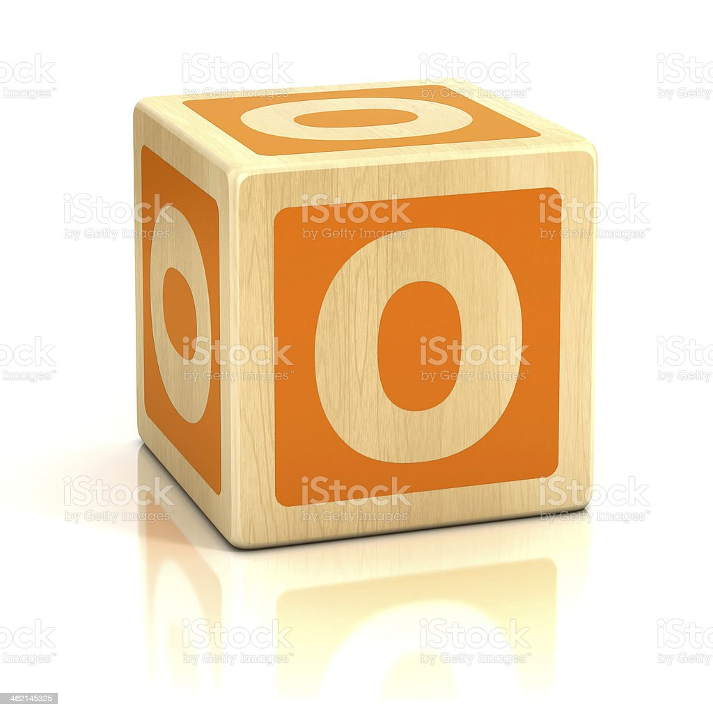 letter O alphabet cubes font stock photo