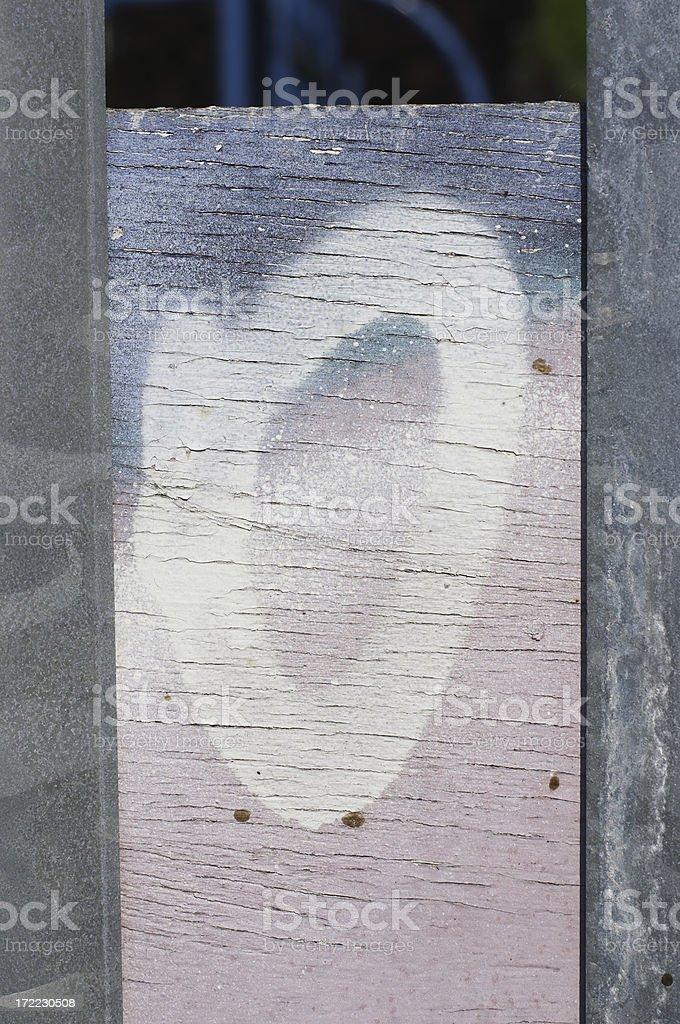 Pastel graffiti letter O stock photo