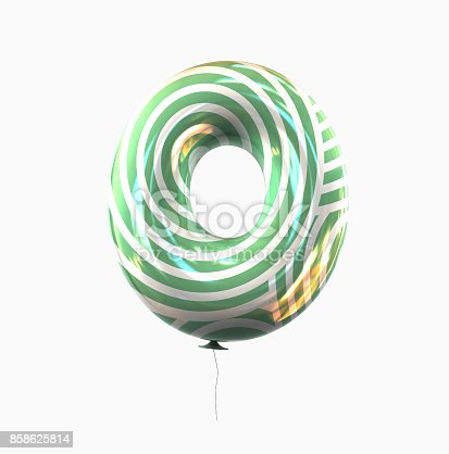 istock Letter O. Colorful Balloon font isolated on White Background. 858625814