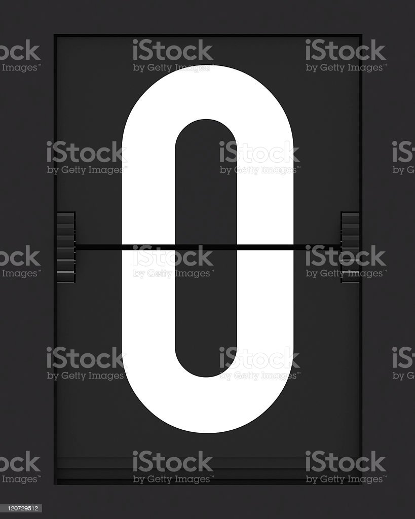 Letter O from mechanical timetable board royalty-free stock photo