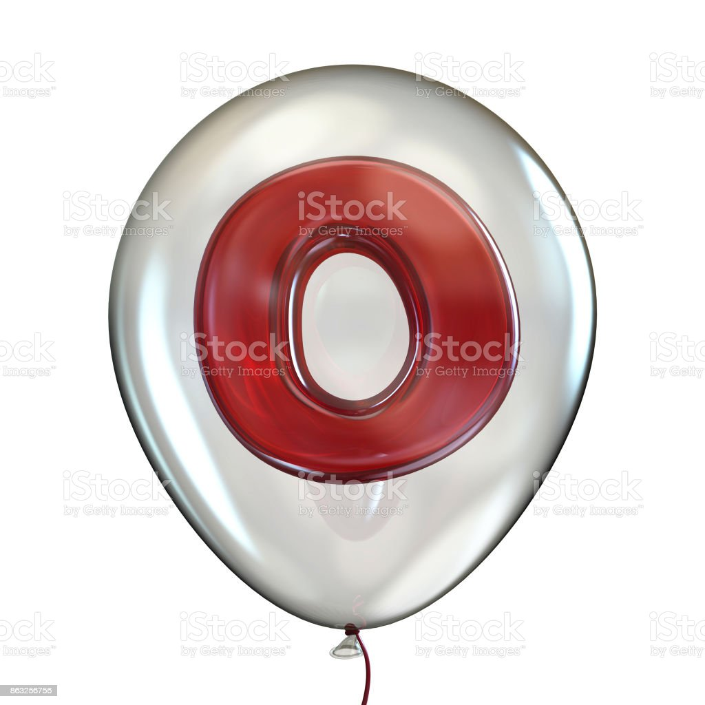 Letter O In Transparent Balloon 3d Stock Photo More Pictures Of