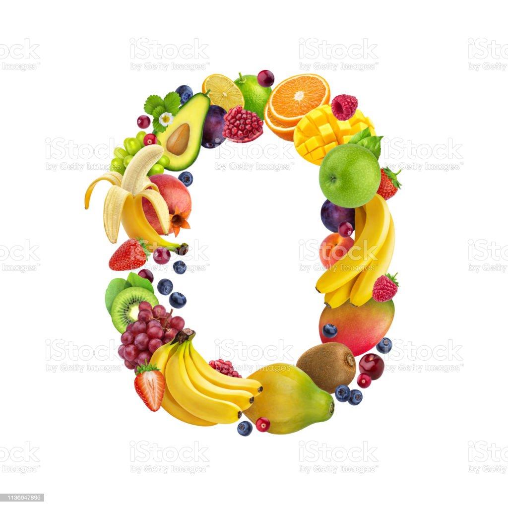Photo libre de droit de Lettre O Faite De Différents Fruits Et ...