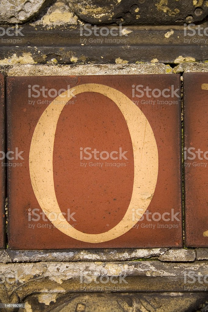 Letter O royalty-free stock photo