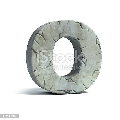 istock letter O stone 3d font 472093079