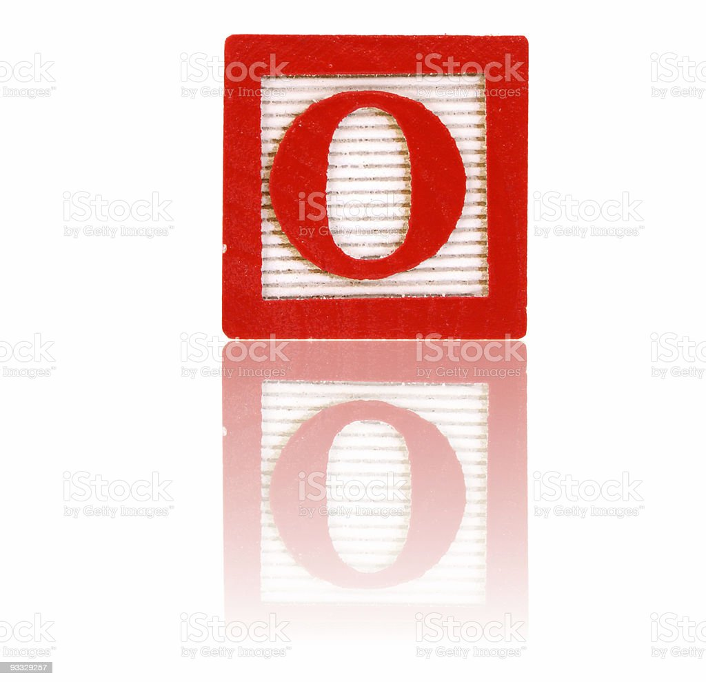 letter o - toy block series royalty-free stock photo