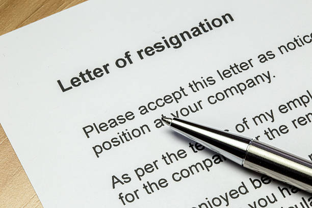 letter of resignation silver pen - endurance stock pictures, royalty-free photos & images