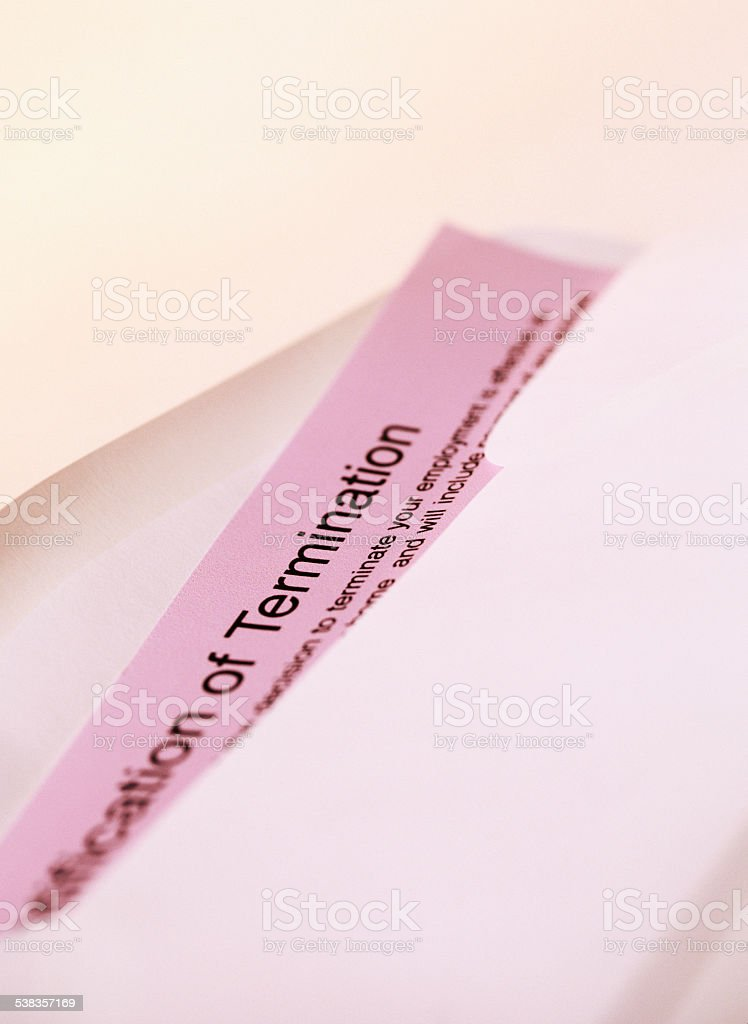 Letter of Termination stock photo