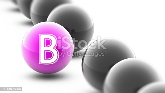 istock Letter on the ball. 1044506990
