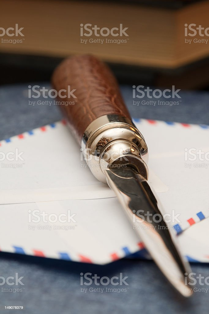 Letter opener perspective stock photo