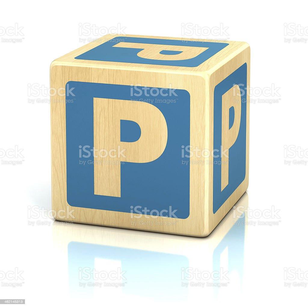 letter P alphabet cubes font stock photo