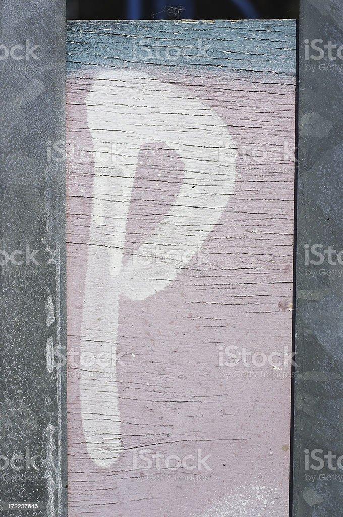 Pastel graffiti letter P stock photo