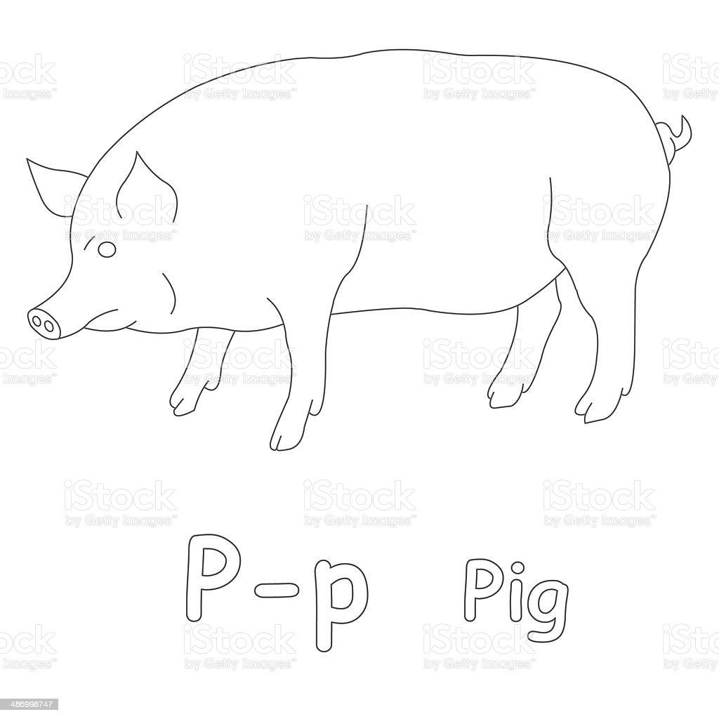 Letra P Para Colorear Página De Cerdo - Fotografía de stock y más ...