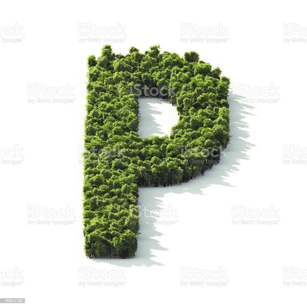 Letter P : Perspective View royalty-free stock photo