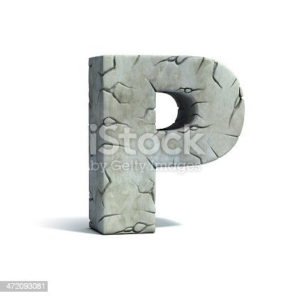 istock letter P stone 3d font 472093081