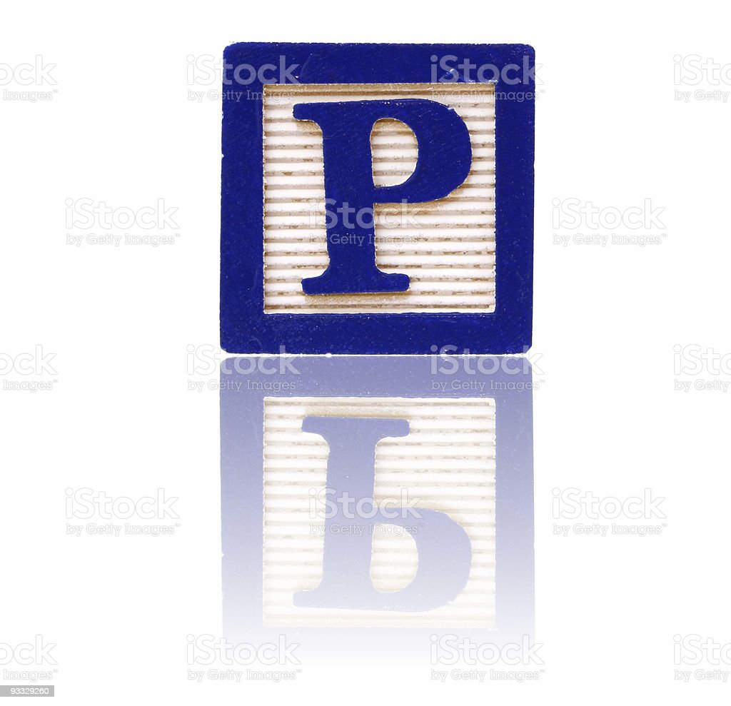 letter p - toy block series royalty-free stock photo