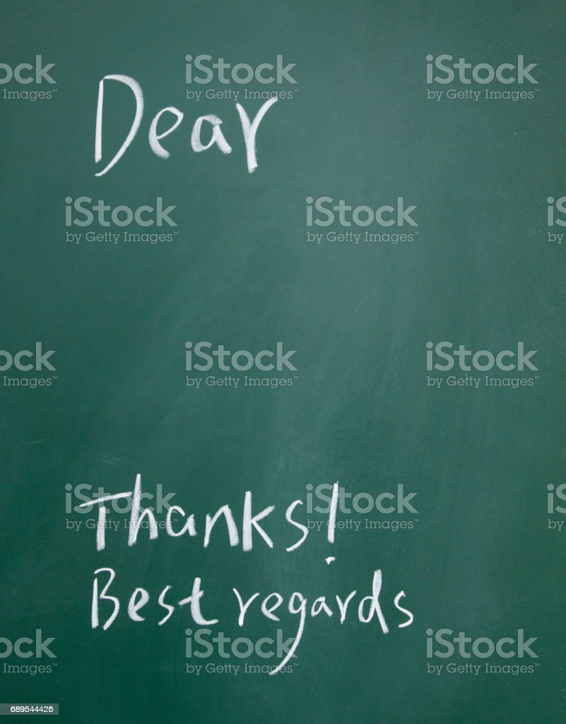 letter paper sign stock photo