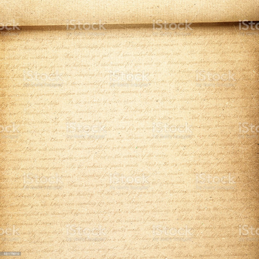 letter paper with text,vintage stock photo