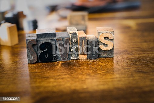 istock Letter Press Blocks spelling the word Savings 519003052