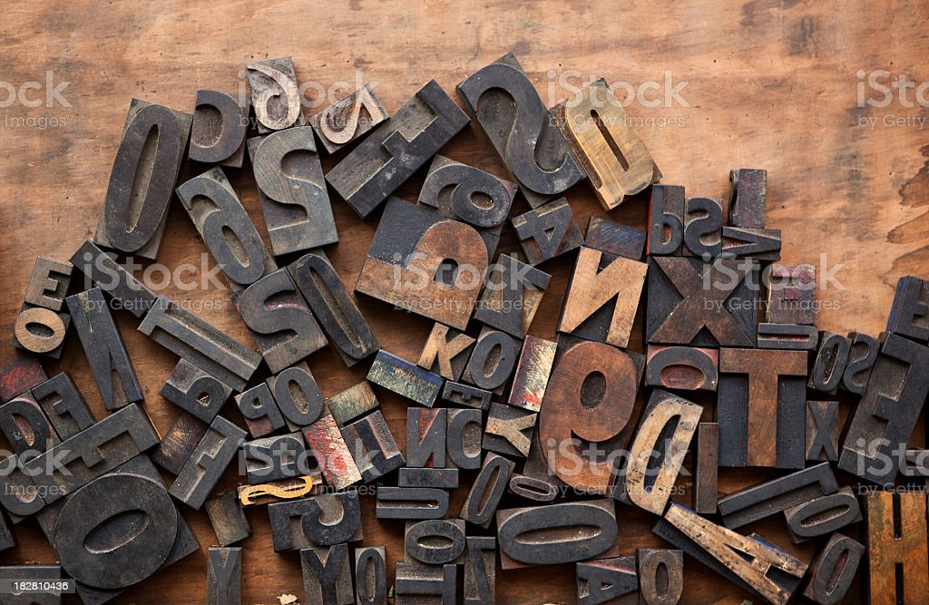 Letter Press Composition royalty-free stock photo