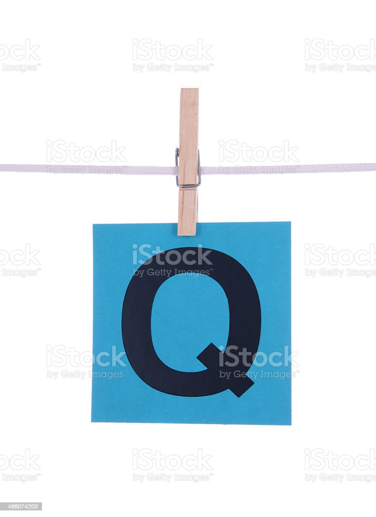 Letter Q royalty-free stock photo