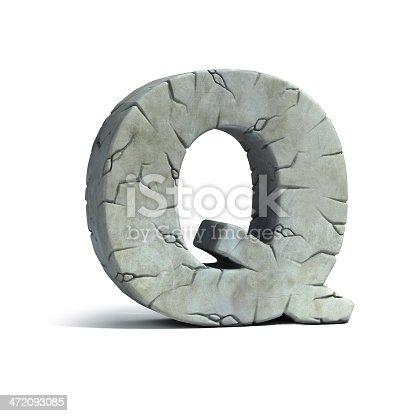 istock letter Q stone 3d font 472093085