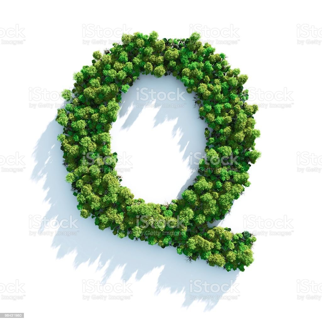 Letter Q: Top View royalty-free stock photo