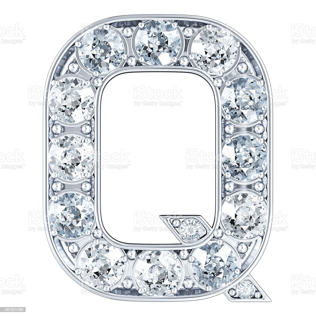 Letter Q With Diamonds stock photo