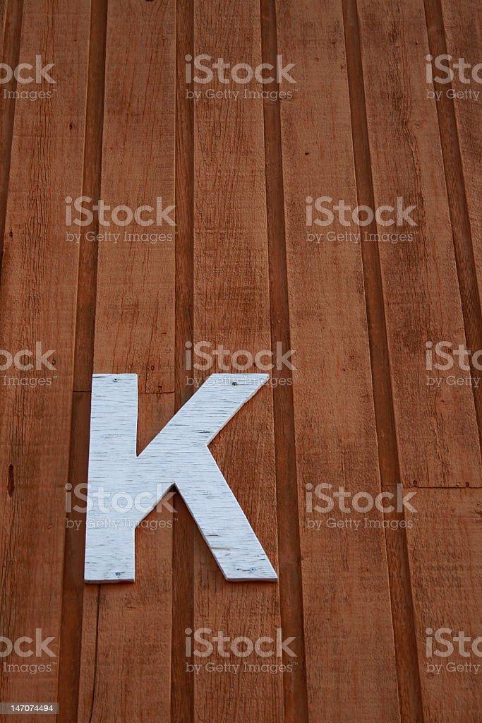 "Letter ""K"" royalty-free stock photo"