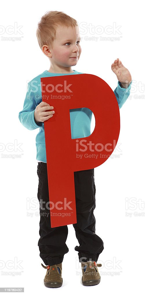"Letter ""P"" boy royalty-free stock photo"