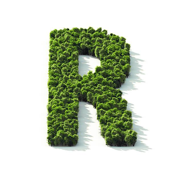 Letter R: Perspective View stock photo