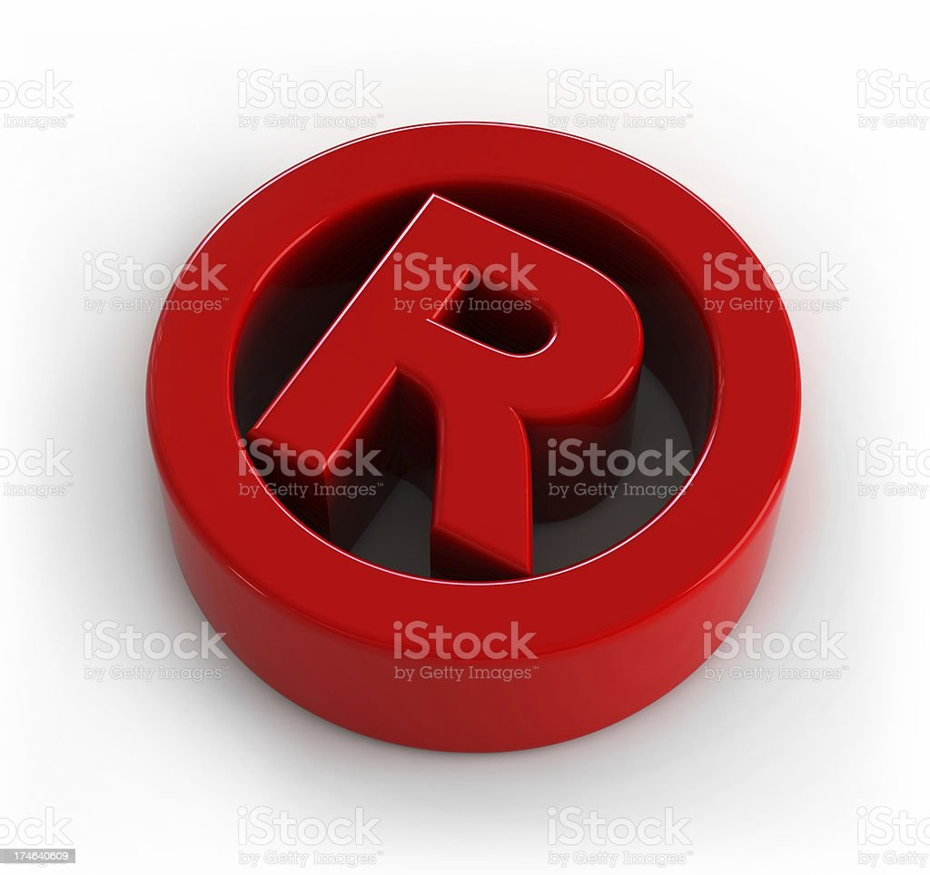 Letter R royalty-free stock photo