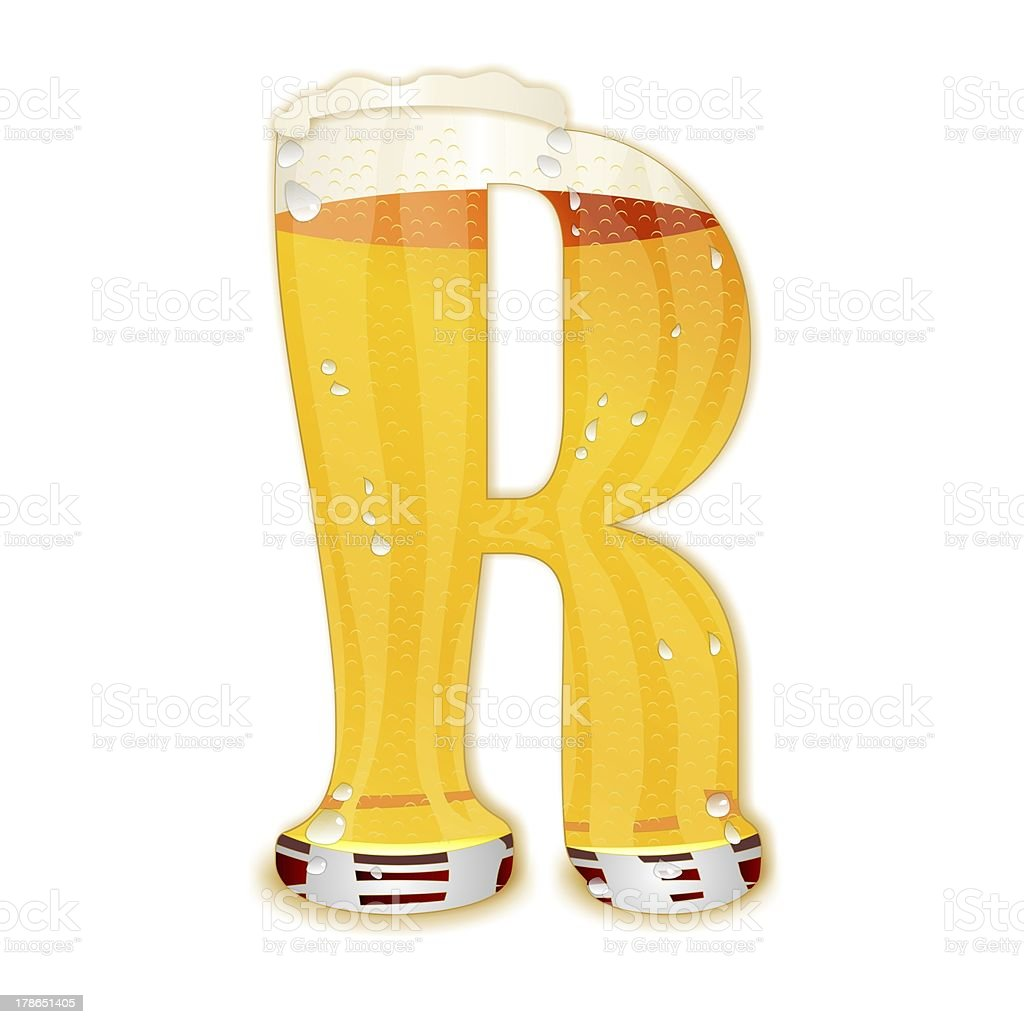 BEER ALPHABET letter R stock photo