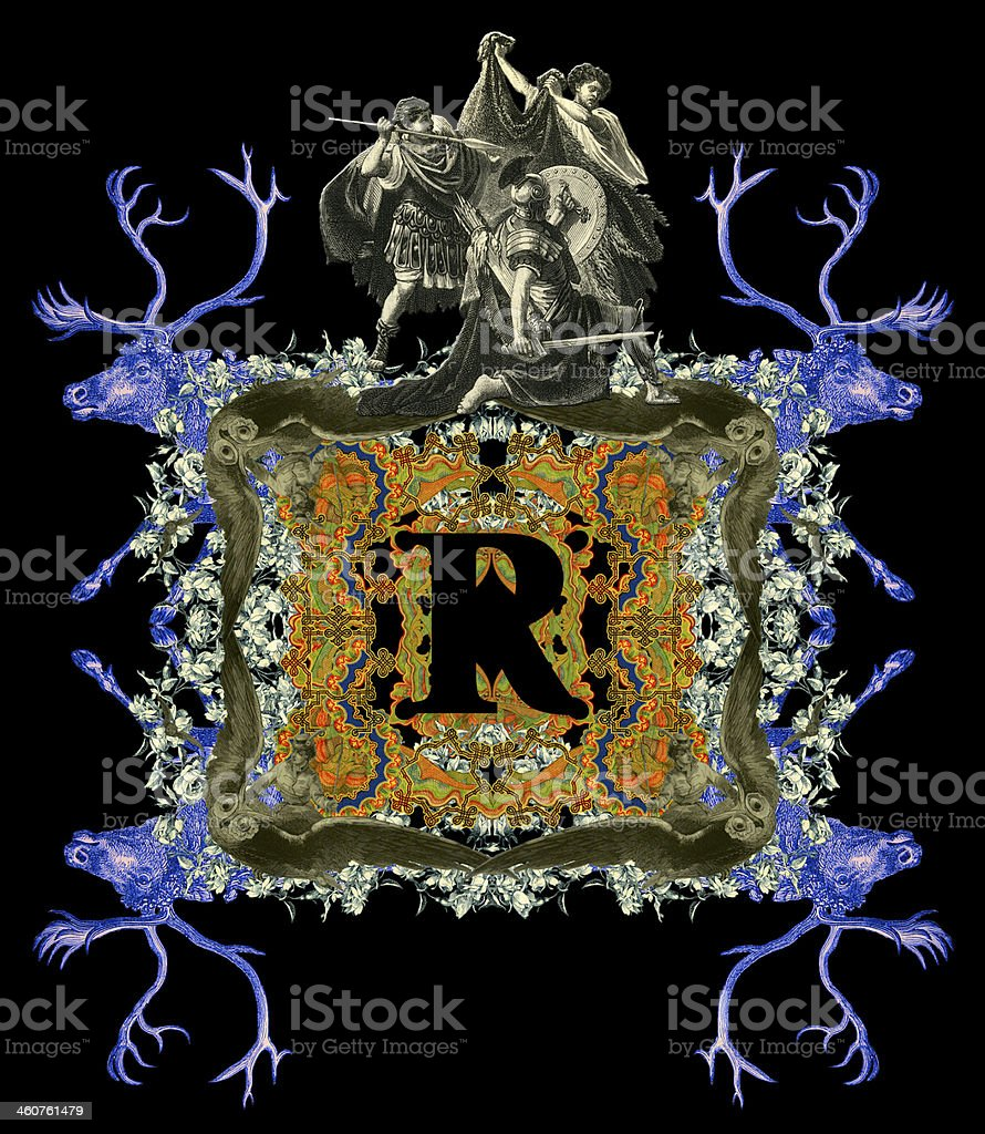 Letter R. royalty-free stock photo