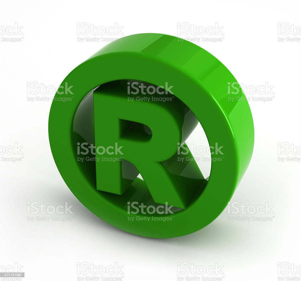 Letter R stock photo